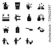 16 vector icon set   cleanser ... | Shutterstock .eps vector #729622597