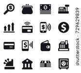16 vector icon set   dollar... | Shutterstock .eps vector #729629839