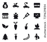 16 vector icon set   money bag  ... | Shutterstock .eps vector #729629854