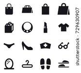 16 vector icon set   shopping...   Shutterstock .eps vector #729630907
