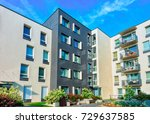 complex of new residential... | Shutterstock . vector #729637585