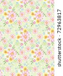seamless floral background...   Shutterstock . vector #72963817