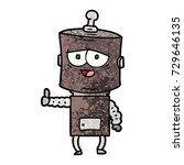 cartoon robot | Shutterstock .eps vector #729646135