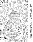 adult coloring page book a... | Shutterstock .eps vector #729663319