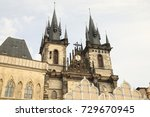 vintage buildings in europe | Shutterstock . vector #729670945