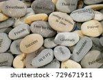 inner balance concept  stone... | Shutterstock . vector #729671911