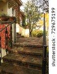 vintage buildings in europe | Shutterstock . vector #729675199