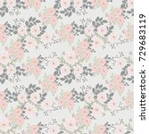 seamless folk pattern in small... | Shutterstock . vector #729683119