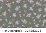 seamless folk pattern in small...   Shutterstock . vector #729683125