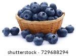 group of fresh blueberries over ... | Shutterstock . vector #729688294