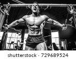 brutal handsome caucasian...   Shutterstock . vector #729689524