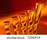 3d gold diagram bar chart | Shutterstock . vector #7296919