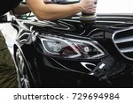 car detailing   hands with... | Shutterstock . vector #729694984