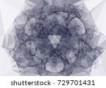 geometric low polygonal... | Shutterstock . vector #729701431