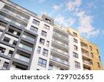 abstract blur of modern...   Shutterstock . vector #729702655