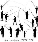 fishermen and fishing   vector | Shutterstock .eps vector #72971527