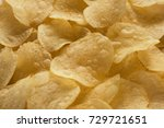 close up potato chips on wood... | Shutterstock . vector #729721651