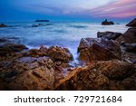 sunset sky at laem chabang... | Shutterstock . vector #729721684