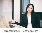 asian business women and group... | Shutterstock . vector #729726049