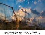 construction worker on... | Shutterstock . vector #729729937