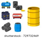 oil drums container fuel cask... | Shutterstock .eps vector #729732469
