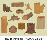 stacked wood pine timber for... | Shutterstock .eps vector #729732685
