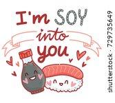 cute love illustration poster...   Shutterstock .eps vector #729735649