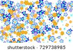floral pattern for brochure ... | Shutterstock .eps vector #729738985