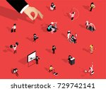 illustration vector isometric... | Shutterstock .eps vector #729742141