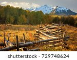 Wooden Fence Sunrise At The...