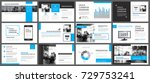 blue presentation templates and ... | Shutterstock .eps vector #729753241