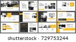 yellow presentation templates... | Shutterstock .eps vector #729753244