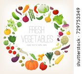 fresh colorful vegetables... | Shutterstock .eps vector #729753349