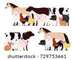 farm animals group set | Shutterstock .eps vector #729753661