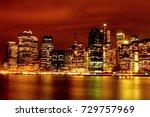 new york skyline at night | Shutterstock . vector #729757969
