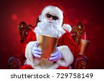 merry christmas and happy new... | Shutterstock . vector #729758149