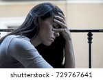 young sad and desperate latin... | Shutterstock . vector #729767641