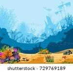 sea scenes   landscapes  ...   Shutterstock .eps vector #729769189