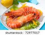 King Prawns Shrimps With Salad...