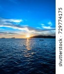 dramatic sunset color in... | Shutterstock . vector #729774175