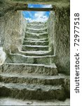 Step Stone Staircase In The...