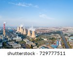 aerial view of thermal power plant  ,dezhou city ,shandong province,China