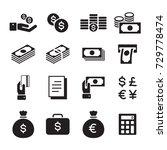 icon money set  vector   Shutterstock .eps vector #729778474