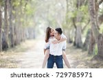 couple in love  summer holidays ... | Shutterstock . vector #729785971