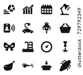 16 vector icon set   diagram ... | Shutterstock .eps vector #729792349