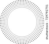halftone dots in circle form.... | Shutterstock .eps vector #729792751