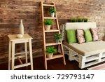 still life details of cozy home ... | Shutterstock . vector #729793147