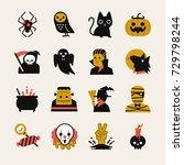 Halloween Cartoon Icon Set....