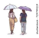 isolated illustration of women... | Shutterstock .eps vector #729799219