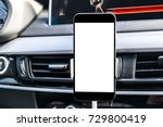 smartphone in a car use for... | Shutterstock . vector #729800419